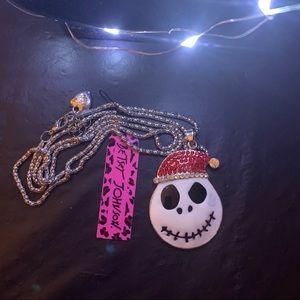 ☘️Betsey Johnson Nightmare Christmas Necklace